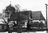 Kostel sv. Barbory v 70. letech 20. století - farní archiv Zábřeh