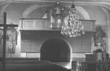 Interiér kostela sv. Barbory v 70. letech, farní archiv Zábřeh