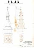 Plány na novou věž z r. 1862, Okresní archiv Šumperk - fond farnosti Zábřeh.