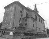 Kostel před opravou v roce 1972, foto farní archiv Zábřeh