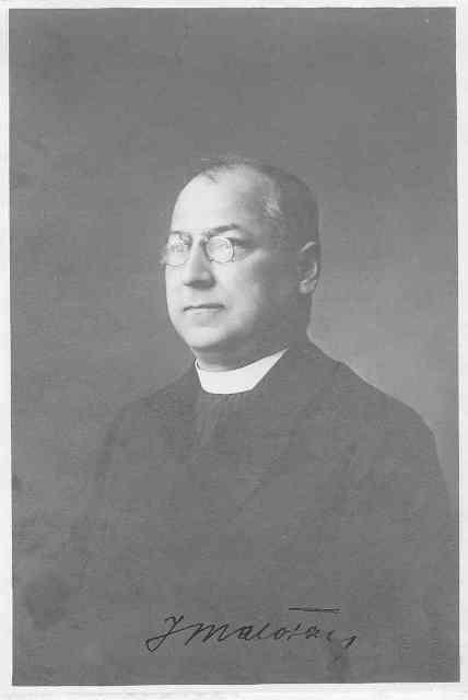 Msgre. Jan Křtitel Malota, farářem 1914 – 1936. Farní archiv.